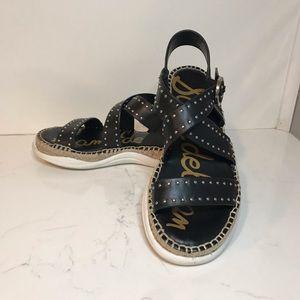 Sam Edelman black Janette studded sandals Sz 6.5